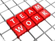 Teamwork crossword Stock Photography