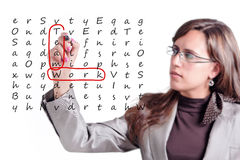 Teamwork Crosswords Stock Photography