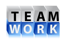 Teamwork cubes Stock Photos