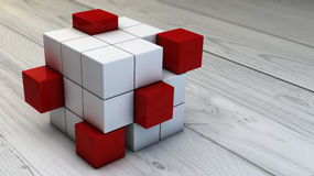Teamwork cubes Stock Images