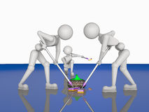 Teamwork in curlers Stock Images