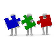 Teamwork, 3d concept Stock Images