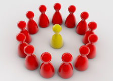 Teamwork 3d figures. And white background Royalty Free Stock Photography