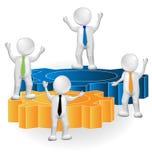 Teamwork 3D people leaders Royalty Free Stock Photos