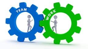 Teamwork - 3D Stickmen Royalty Free Stock Photo