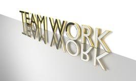 Teamwork 3d text. Job, work concept words Teamwork , 3d render Stock Photos