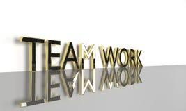 Teamwork 3d text. Job, work concept words Teamwork , 3d render Royalty Free Stock Images