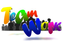 Teamwork 3D Royalty Free Stock Image