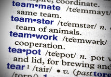 Teamwork Defined Royalty Free Stock Photography