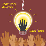 Teamwork delivers big ideas Royalty Free Stock Photo