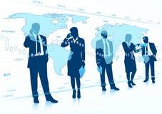 Teamwork des globalen Geschäfts Stockbilder
