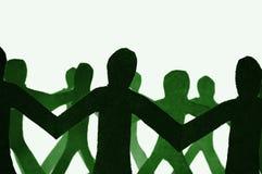 Teamwork des Papierteams Lizenzfreies Stockfoto