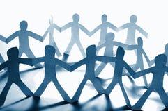 Teamwork des Papierteams Lizenzfreies Stockbild