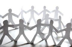 Teamwork des Papierteams Lizenzfreie Stockfotografie