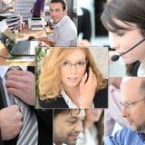 Teamwork des tertiären Sektors Stockfotografie