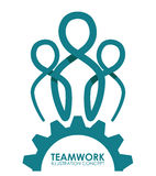 Teamwork-Design Stockfotos