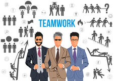 Teamwork design concept Stock Photography