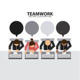 Teamwork design Stock Images
