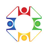 Teamwork design logo Stock Images