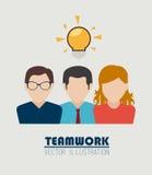 Teamwork design. Over beige background, vector illustration Royalty Free Stock Photos