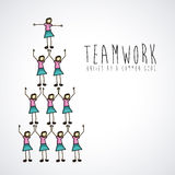 Teamwork design Stock Image