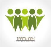 Teamwork. Design over white background vector illustration Stock Photo