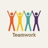 Teamwork. Design over  white  background vector illustration Stock Photos
