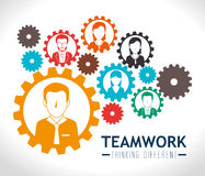 Teamwork design. Royalty Free Stock Image