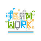 Teamwork design style concept illustration Royalty Free Stock Photos