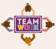Teamwork design,vector illustration. Royalty Free Stock Image