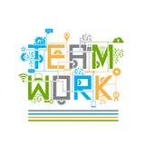Teamwork-Designart-Konzeptillustration Lizenzfreie Stockfotos