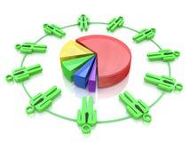 Teamwork diagram Royalty Free Stock Photography