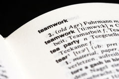Teamwork in dictionary Stock Photos