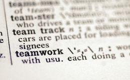 Teamwork. In the dictionary Stock Image
