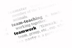 Teamwork Dictionary Definition Royalty Free Stock Photography