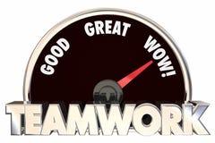 Teamwork, die Zusammenarbeits-Zusammenarbeits-Geschwindigkeitsmesser zusammenarbeitet vektor abbildung