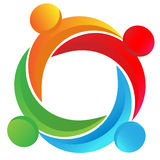 Teamwork diverse logo stock illustration