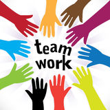 Teamwork diversity royalty free illustration