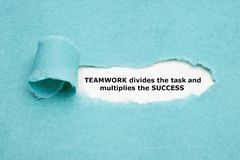 Teamwork Divides Task And Multiplies Success royalty free stock images