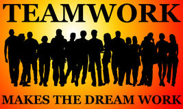 Teamwork dream Stock Photos
