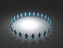 Teamwork-Dunkelheit Stockbilder