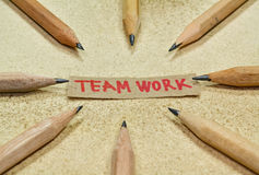 Teamwork E Stockbild