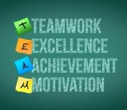Teamwork educational concept illustration Royalty Free Stock Photos