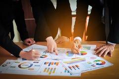 Teamwork-Einheit in Organisation Geschäftserfolg stockbilder