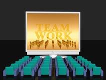 Teamwork, empty cinema room Royalty Free Stock Photo