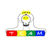 Teamwork : The energy of ideas. The energy of team will make brain bright Royalty Free Stock Photos