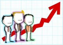 Teamwork-Erfolg stock abbildung