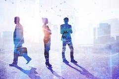 Teamwork-, Erfolgs- und Besetzungskonzept lizenzfreie stockfotografie