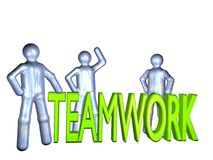 Teamwork is everything Stock Image