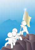 Teamwork Expendition Mountain Summit Royalty Free Stock Photo
